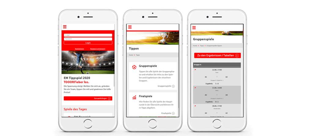 optimierte Darstellung und Bedienung auf Smartphone